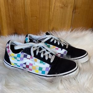 Vans Old Skool Checkered Rainbow Missy 4.5